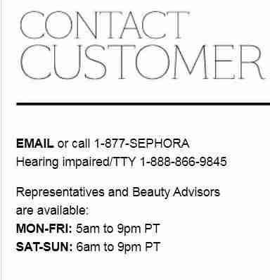 sephora phone number canada