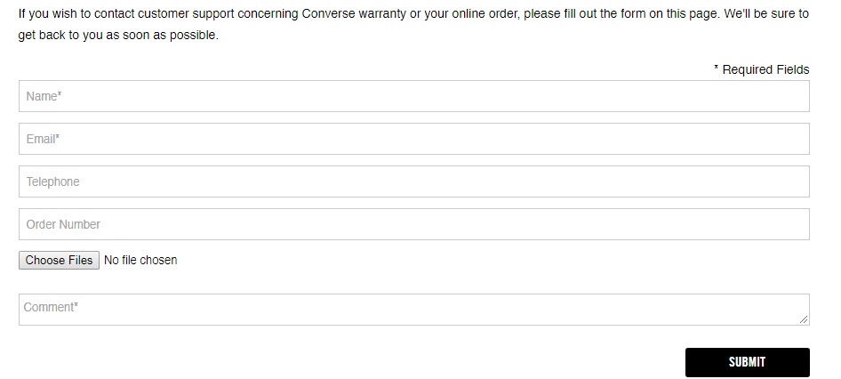 converse support form