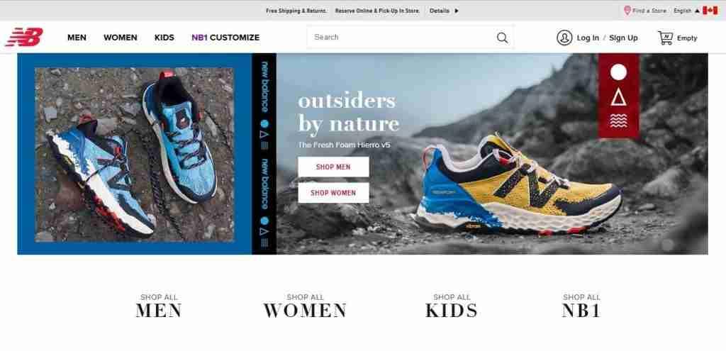 New Balance canada website