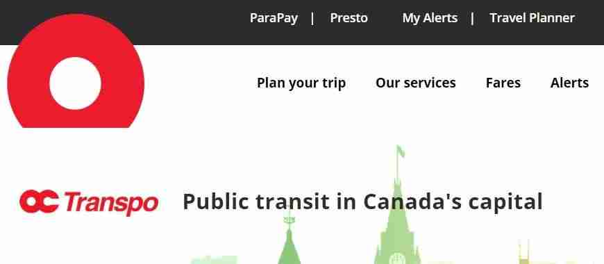 oc transpo help website