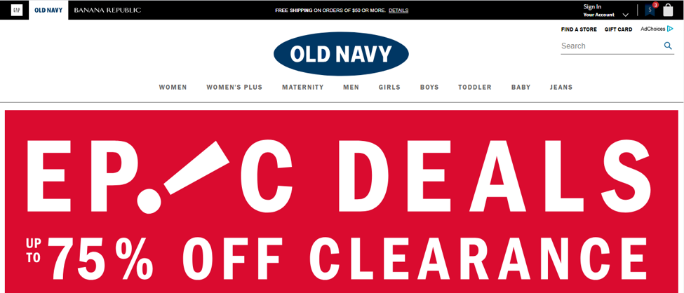 old navy support