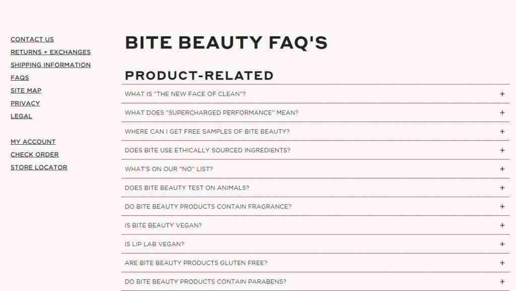 bite beauty faq