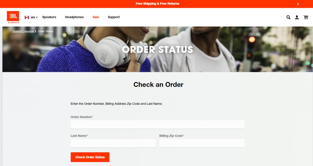 jbl order status