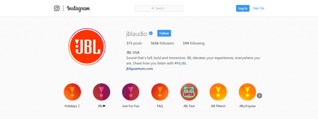 jbl instagram