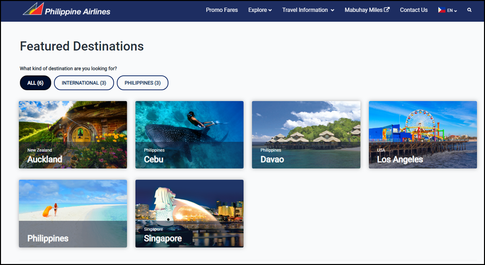 philippines airlines destinations