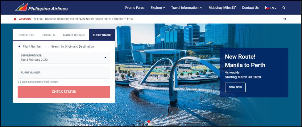 philippines airlines flight status