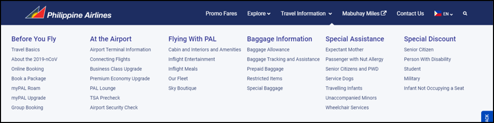 philippines airlines travel information