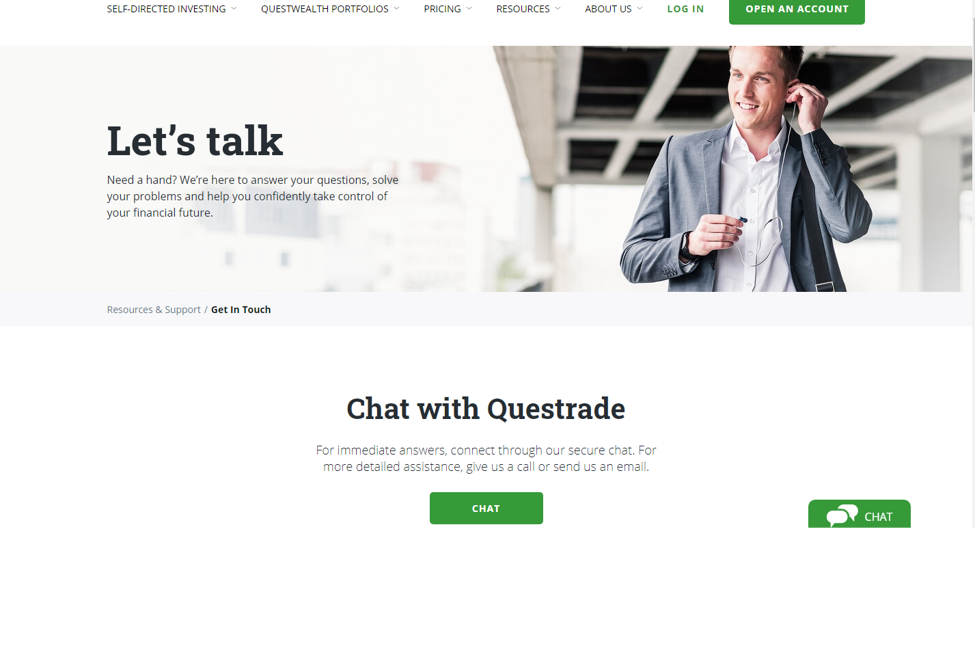 questrade chat
