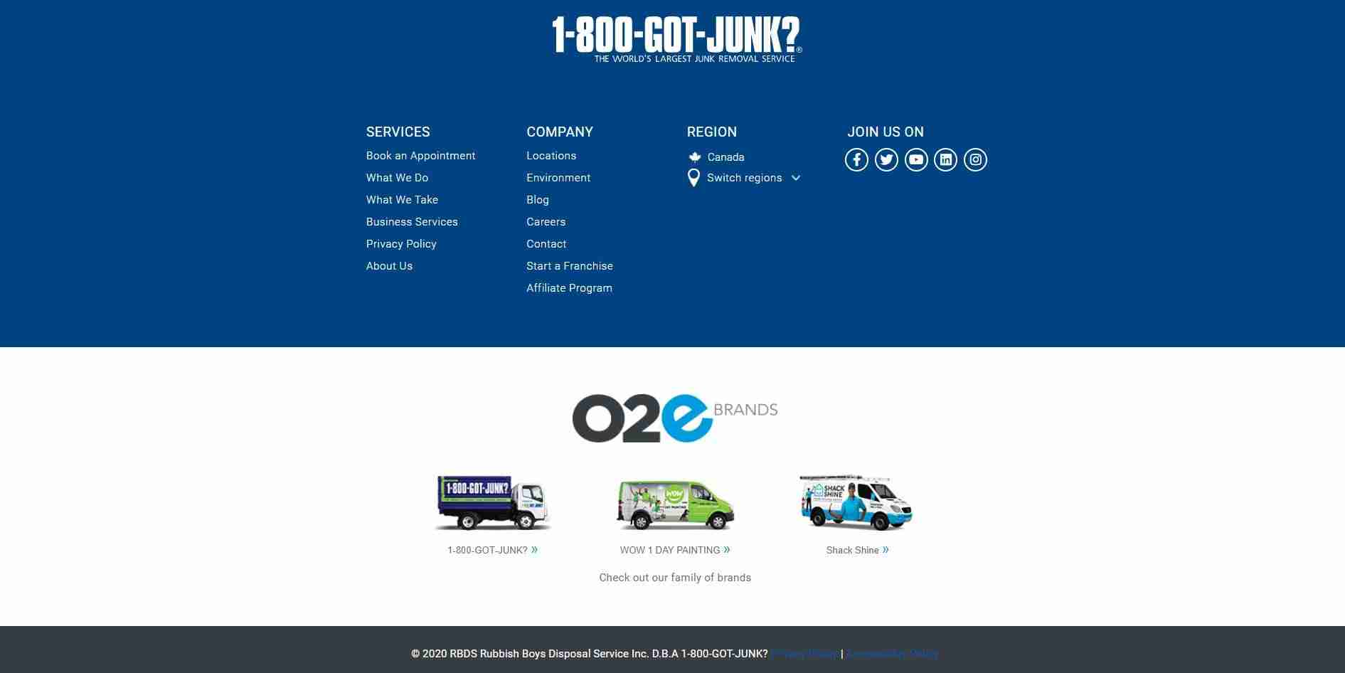 1-800-Got-Junk's? Customer Support Service Page
