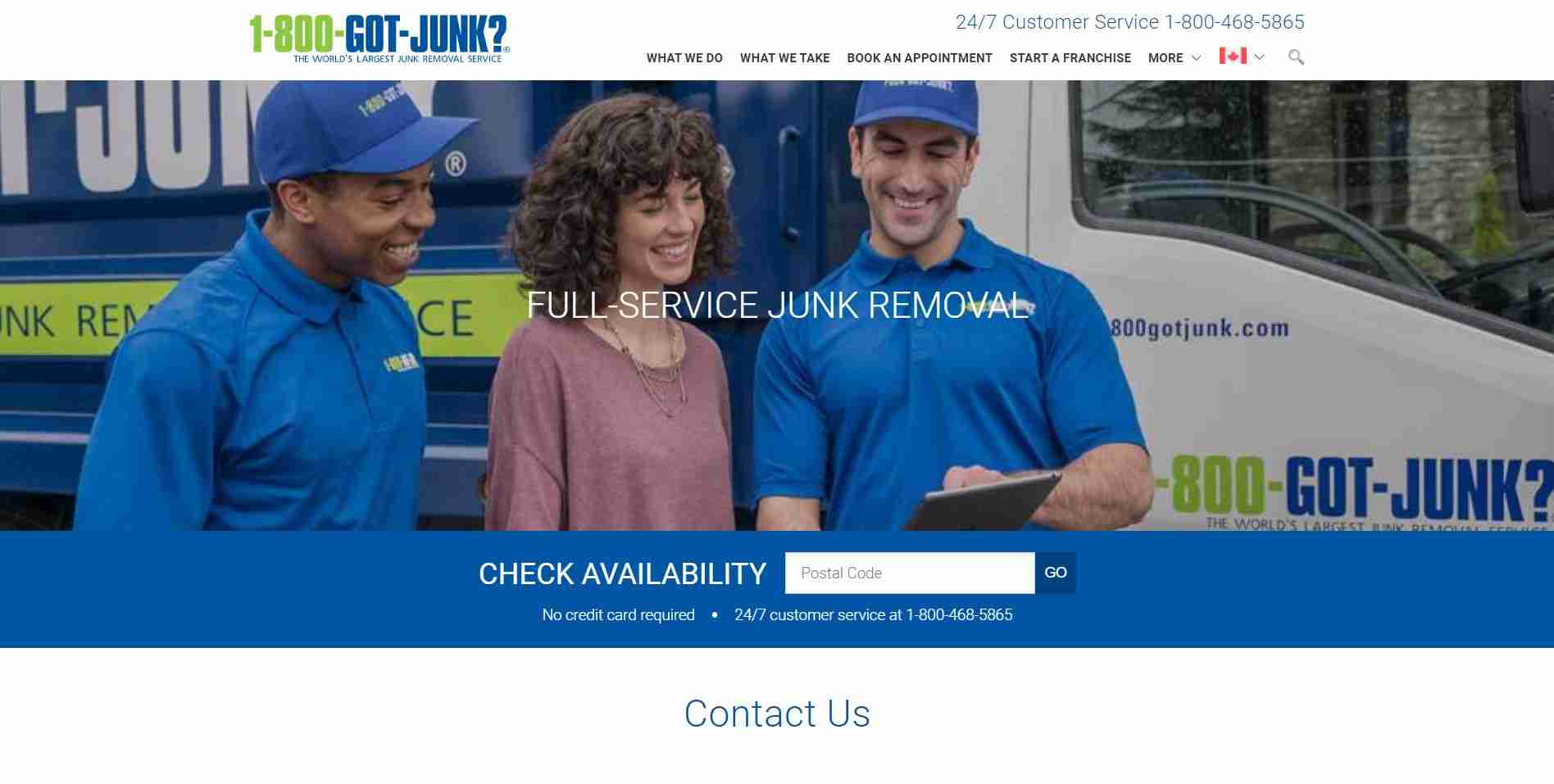 1-800-Got-Junk's? Contact Us Page