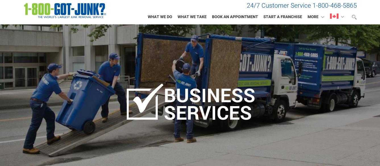 1-800-Got-Junk's? Business Services Page