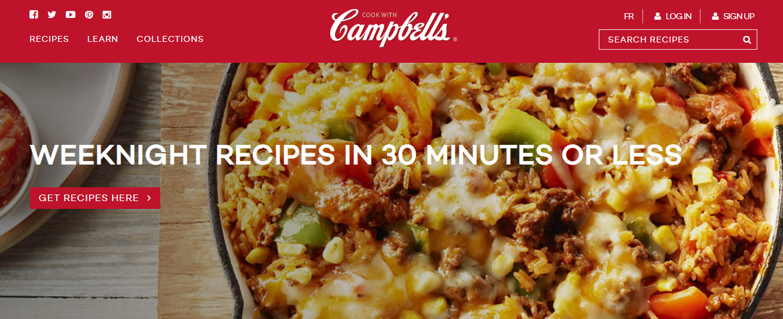 Campbell recipes website