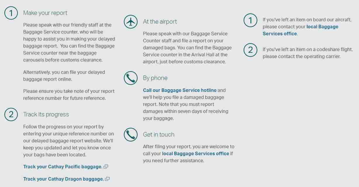 Cathay Pacific Baggage Services