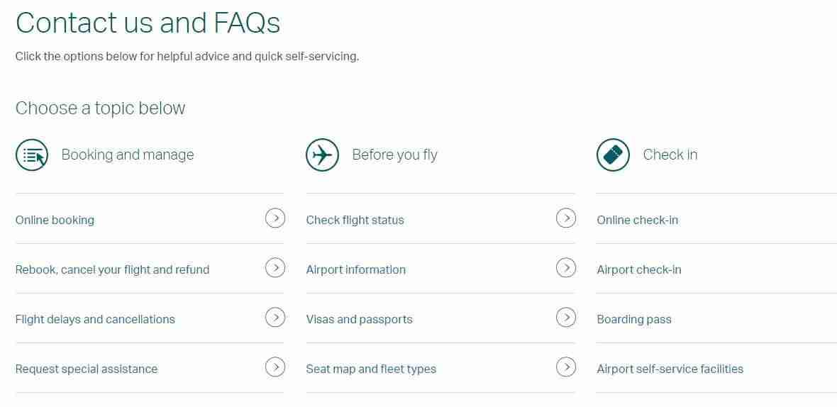 Cathay Pacific Menu and FAQs