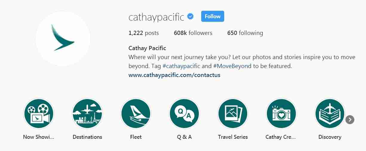 Cathay Pacific Instagram