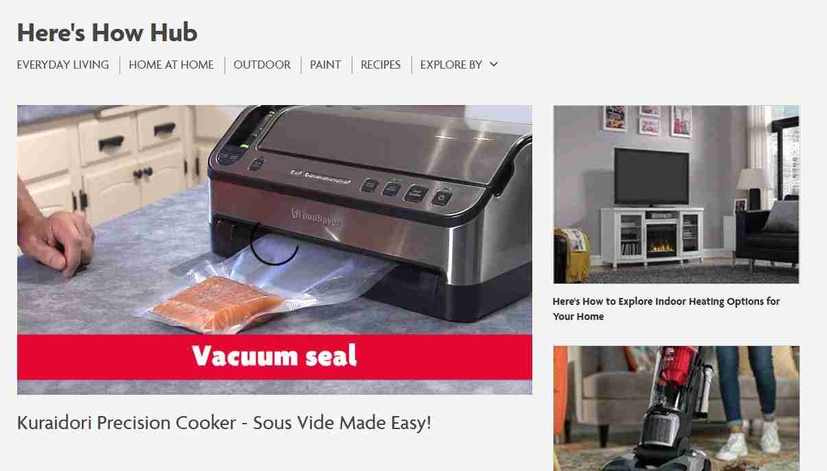 Here's How Hub on Home Hardware website