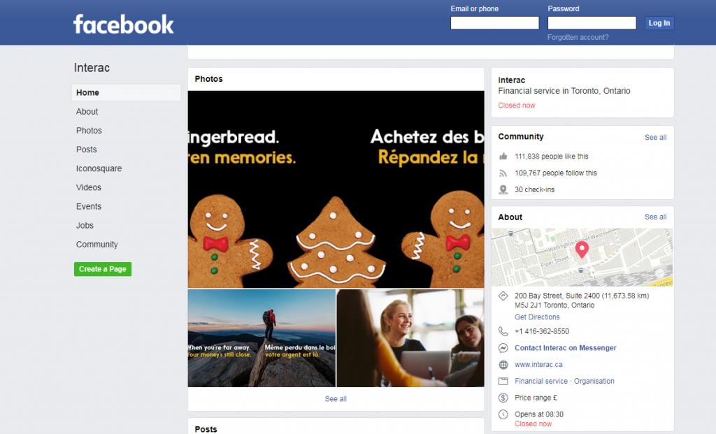 interac on Facebook