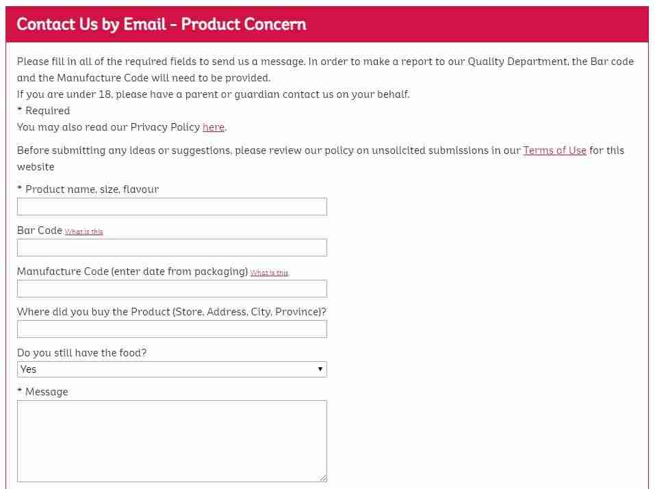 Email Service Forum Page of Kellogg's