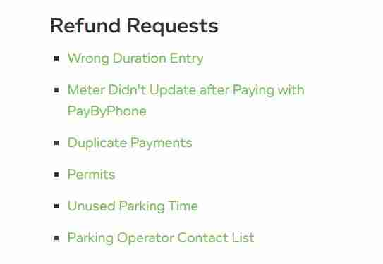 How to refund requests on PayByPhone