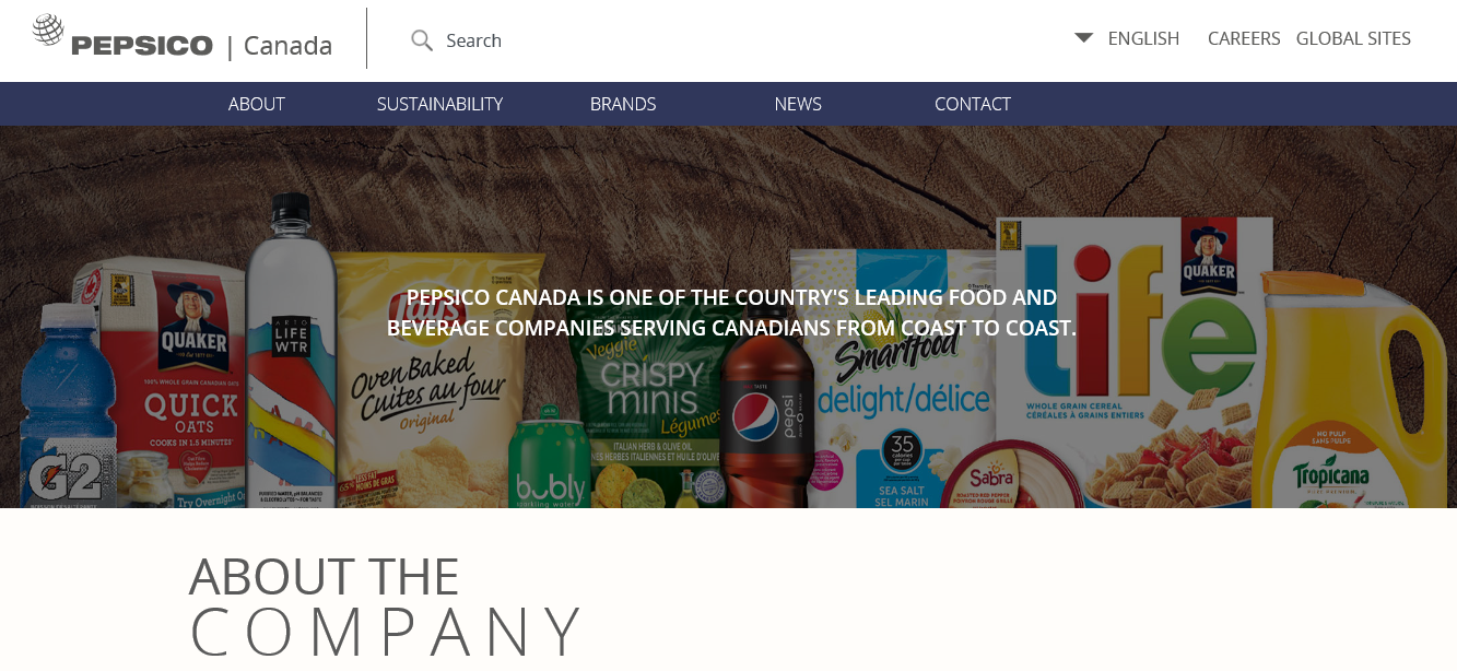 PepsiCo's About Us Page