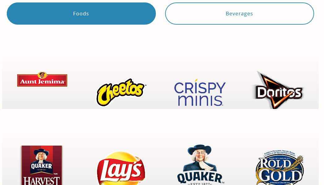 PepsiCo's Product Information Page