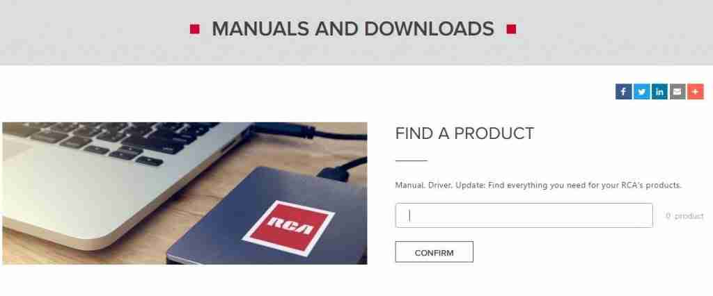 rca manuals and downloads
