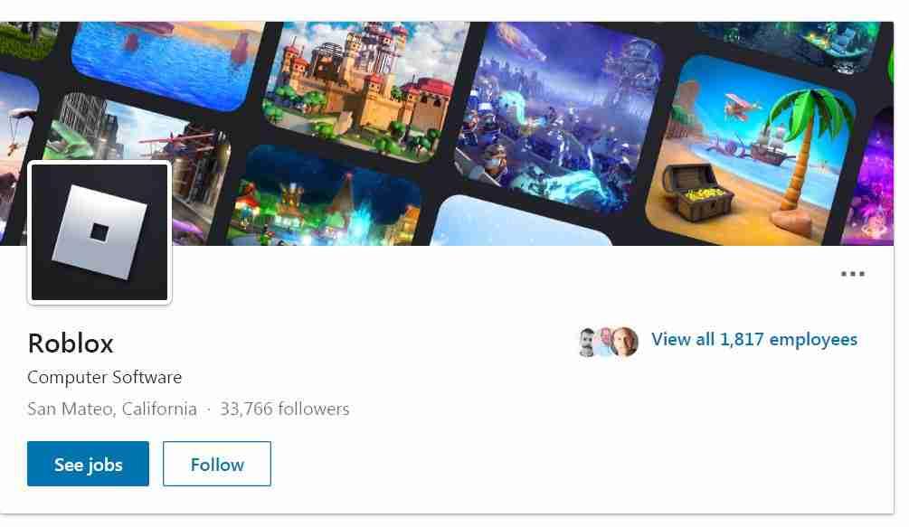 Roblox Social media page