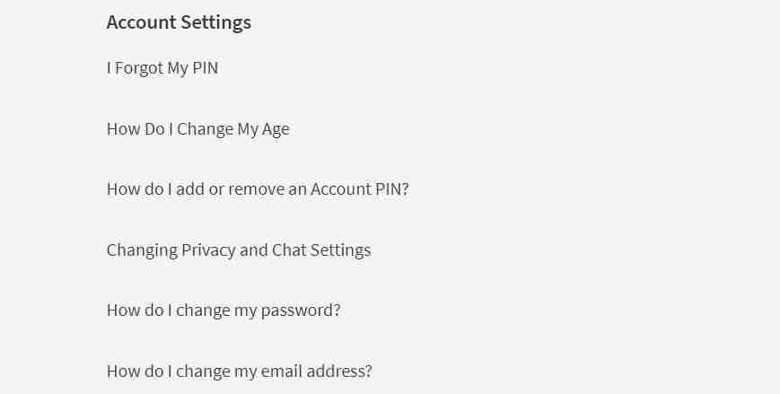 Roblox Account settings