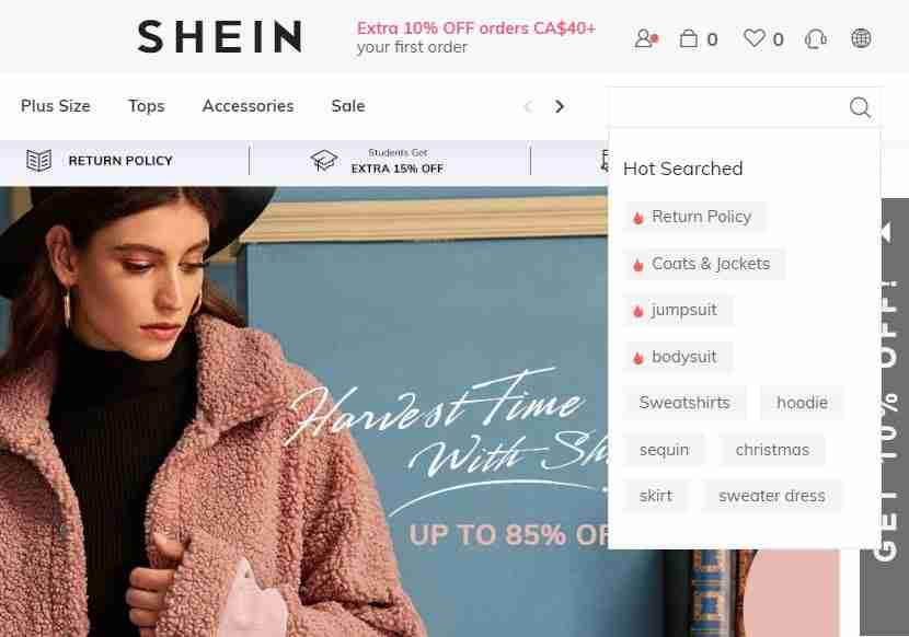 phone number for shein