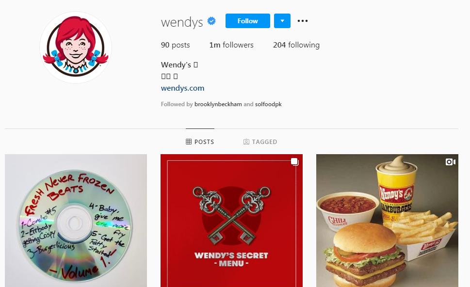 wendys-instagram-direct